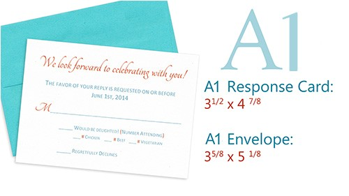 wedding invitation reply card size
