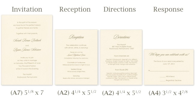 wedding invitation templates sizes