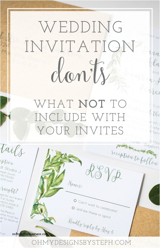 what information should be included in a wedding invitation