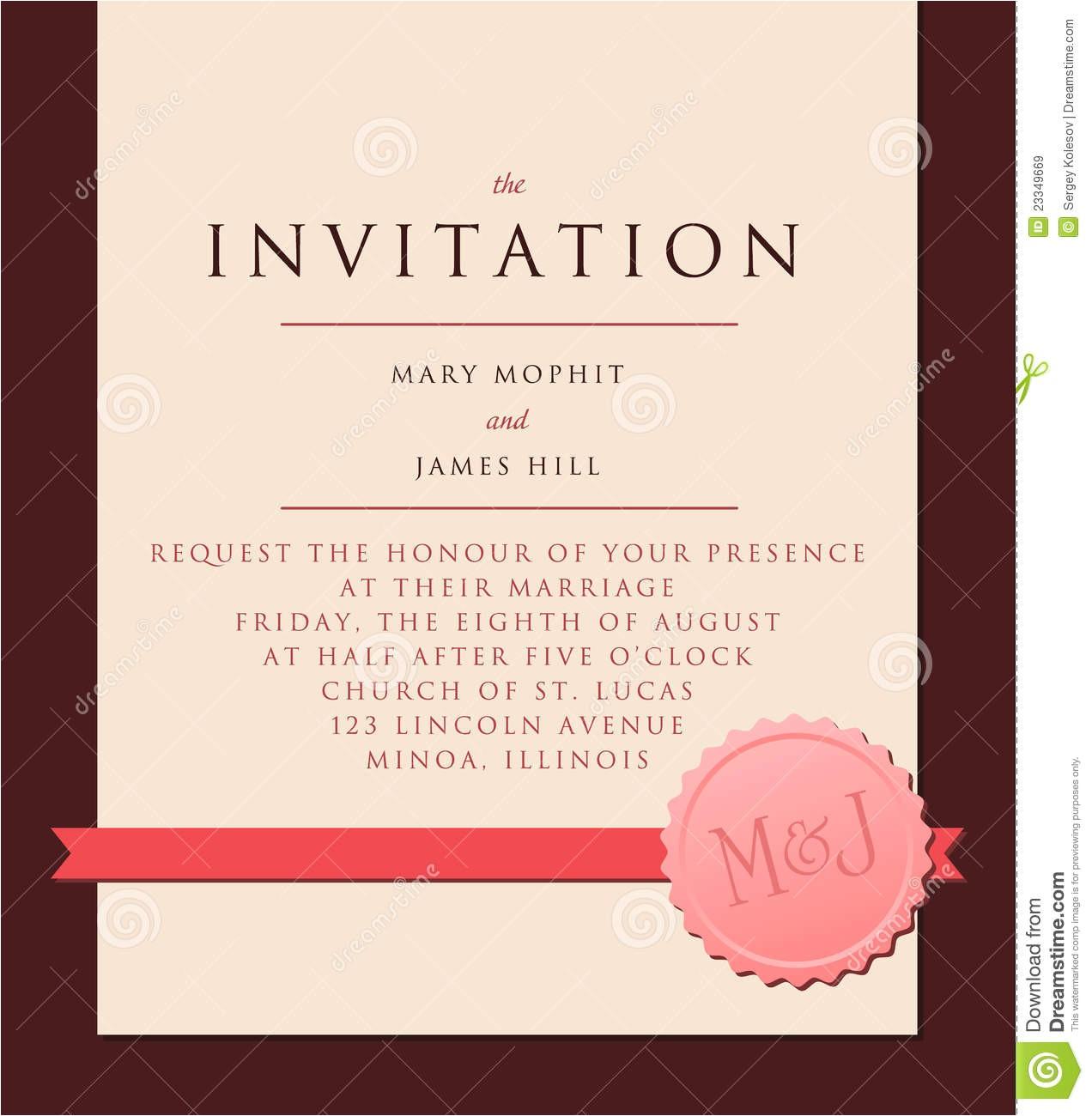 royalty free stock images elegant invitation to wedding image23349669