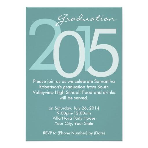2015 blue typographic graduation party invitation 256265219633075766