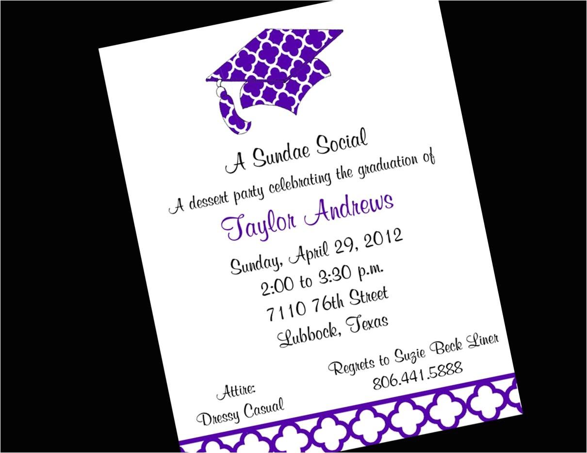 graduation party invitation simple design