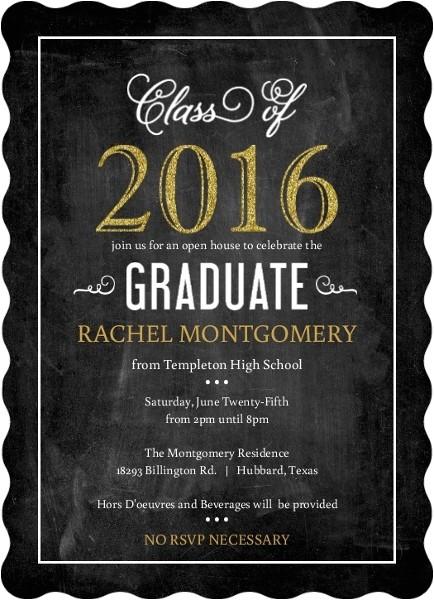 graduation open house invitation wording