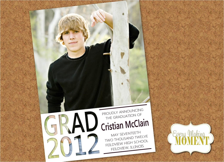 graduation announcement high school