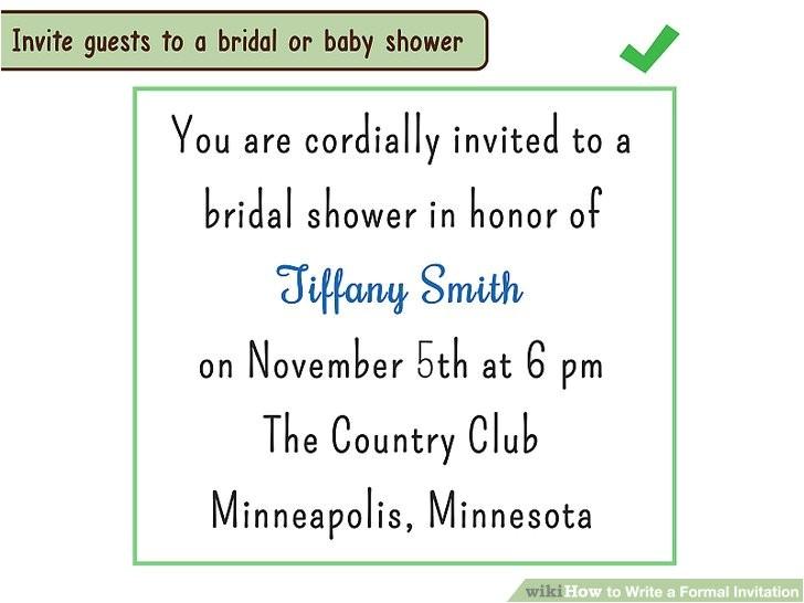 write a formal invitation