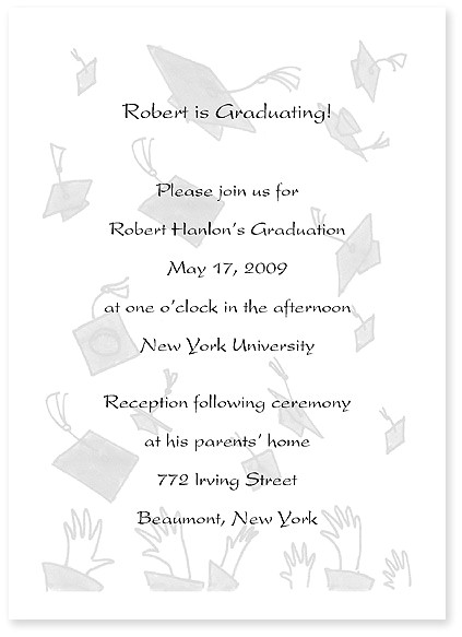 What to Write In A Graduation Invitation Graduation Announcement the Write Stuff
