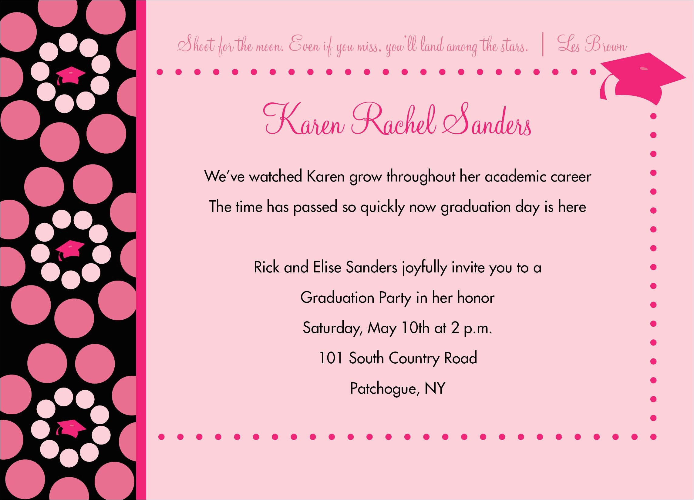 invitation for graduation party