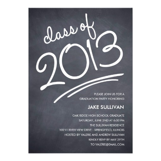 chalkboard writing graduation invitation 161847025996804925