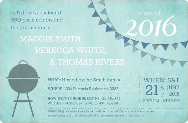 graduation invitation wording samples