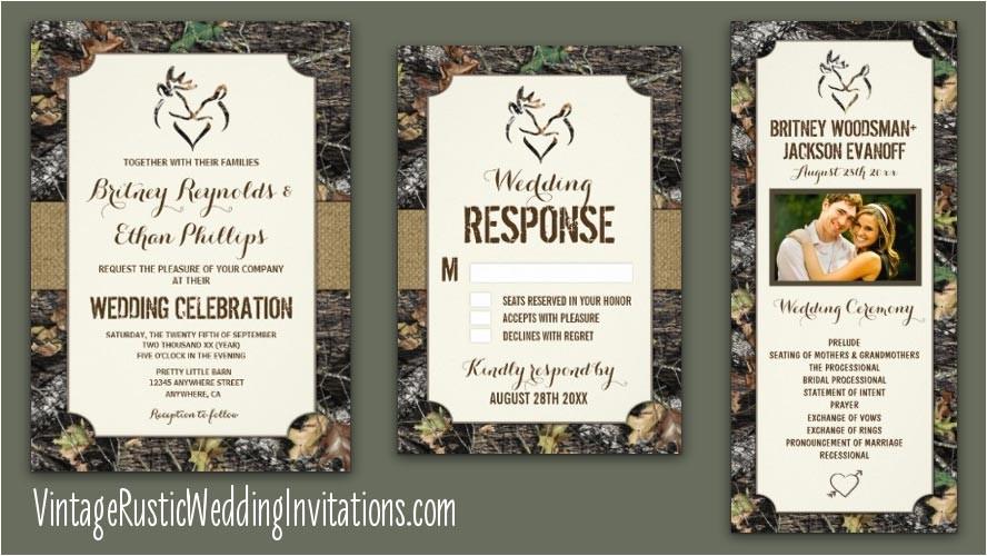 realtree camo wedding invitations
