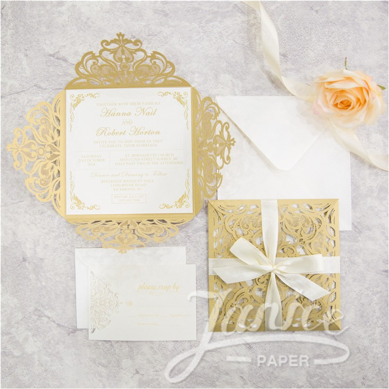 classic laser cut wholesale wedding invitation suite wpl0069s p 666