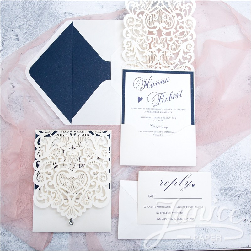 exquisite laser cut white pocket wholesale wedding invitation cards wpl0074 matching laser cut cards available p 114