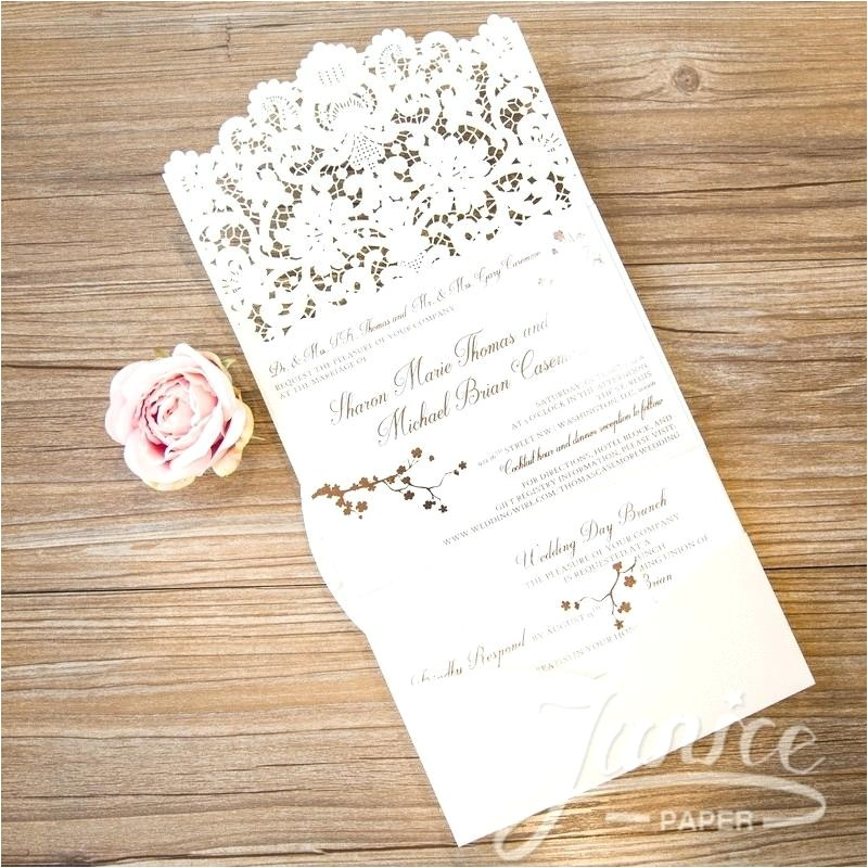 pocket folder wedding invitation kits