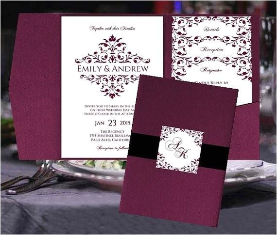 pocket fold wedding invitation templates