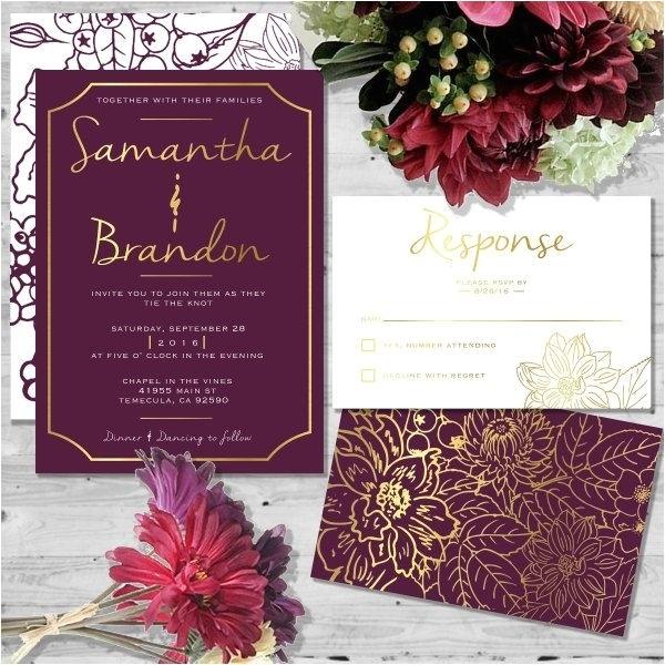 Wine Colored Wedding Invitations Wine Colored Wedding Invitations Cobypic Com