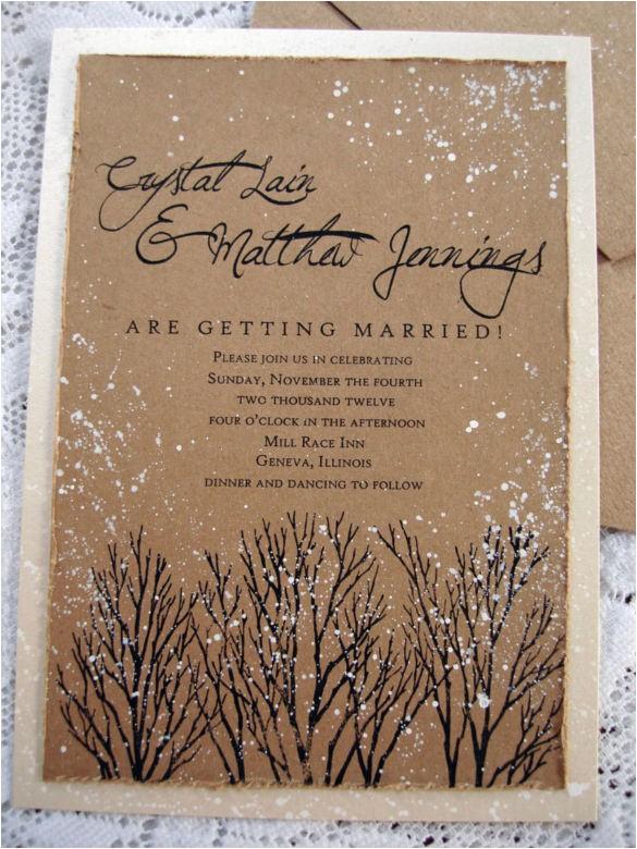 sample winter wedding invitation