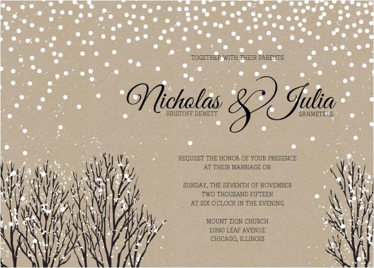 winter wedding invitation wording