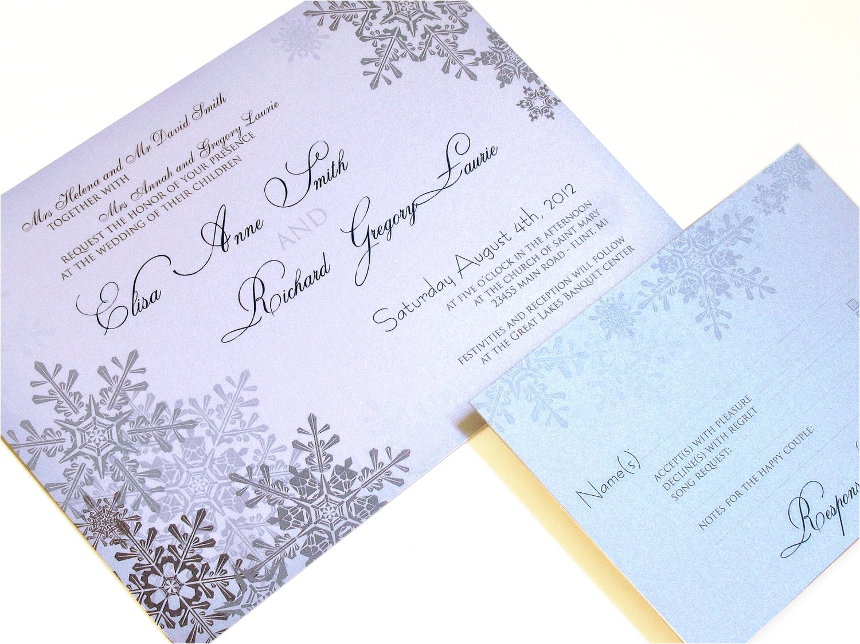 winter wonderland wedding invitations template