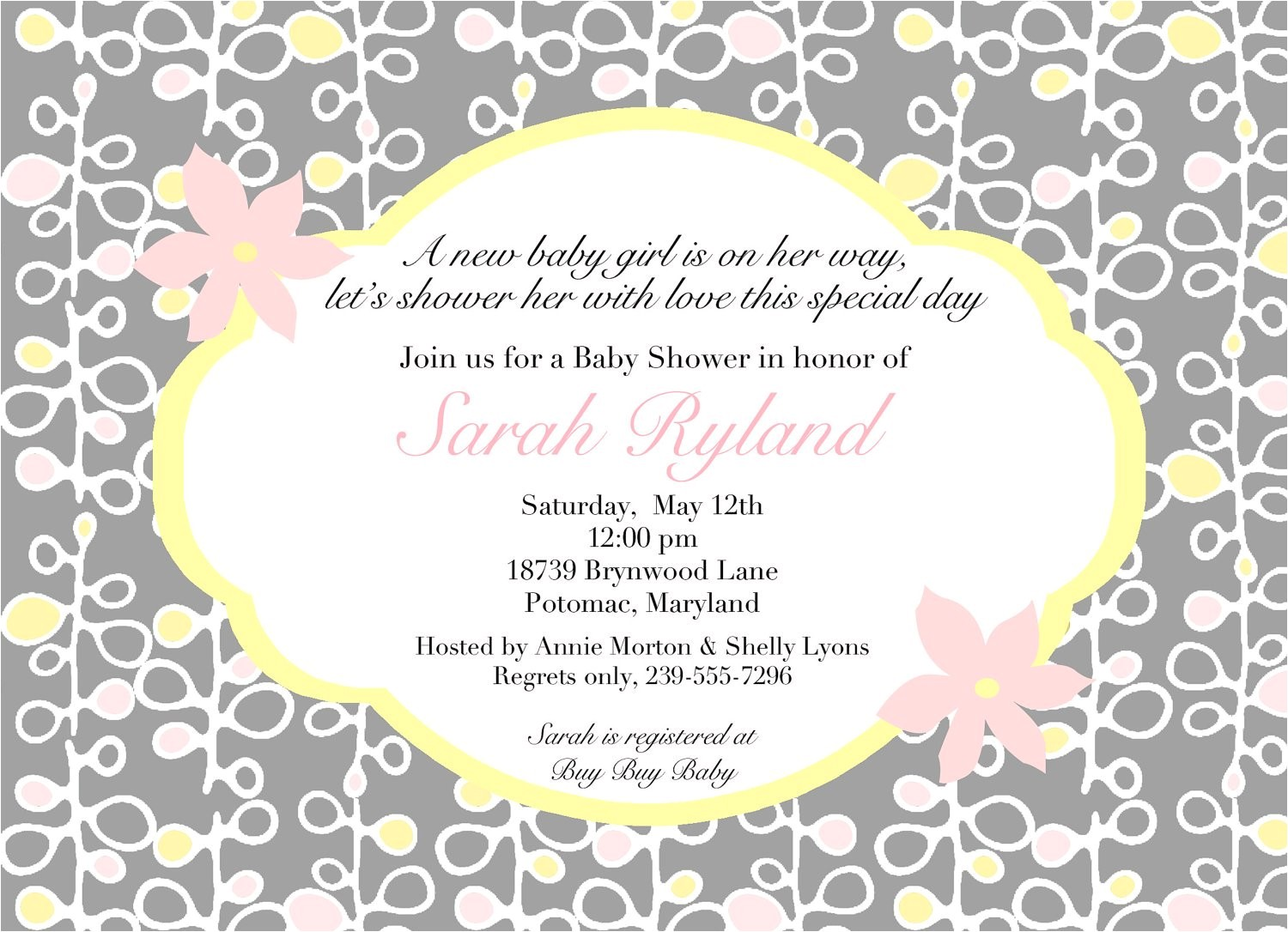 wording for baby shower invitations asking for gift cards