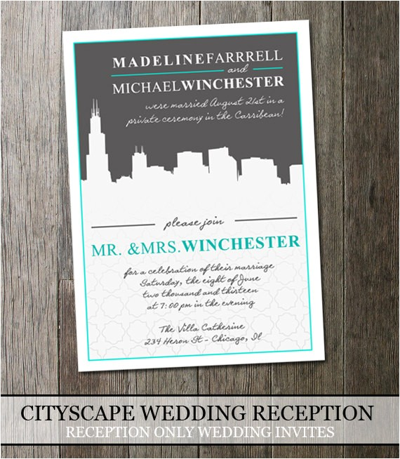 invitation wording post wedding reception