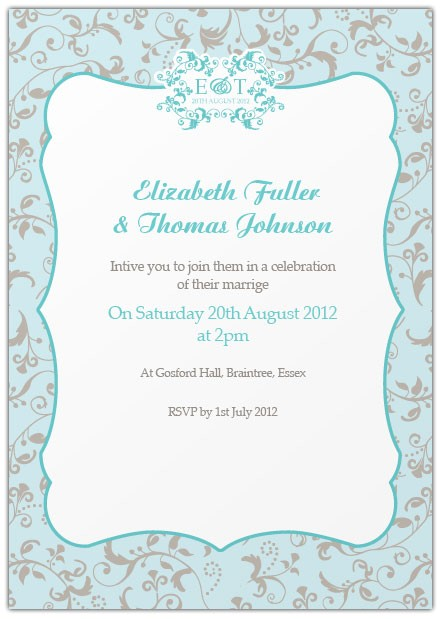 wedding invitation templates bride and