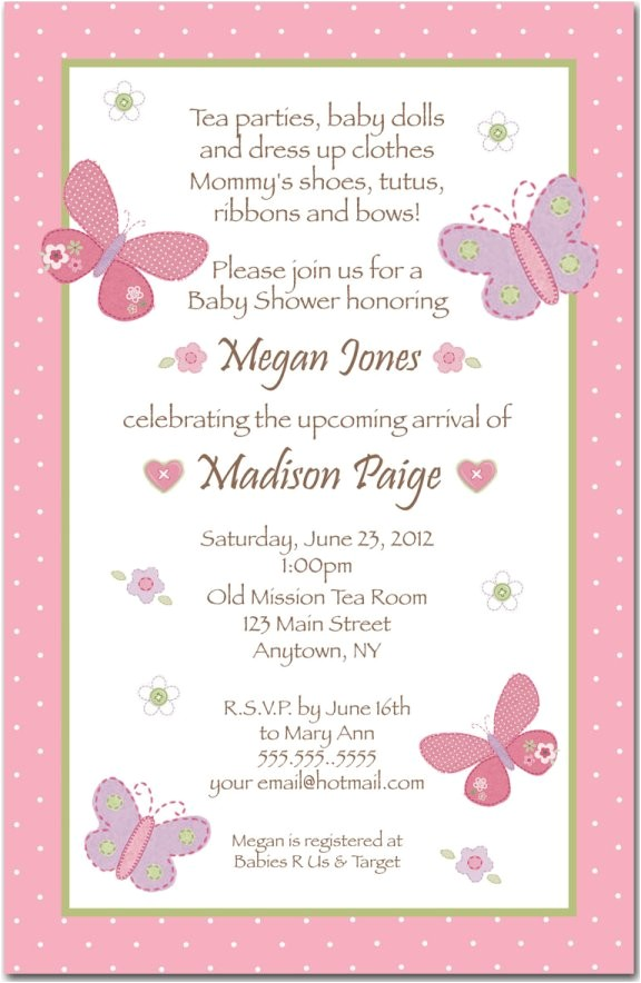 wording on baby shower invitations