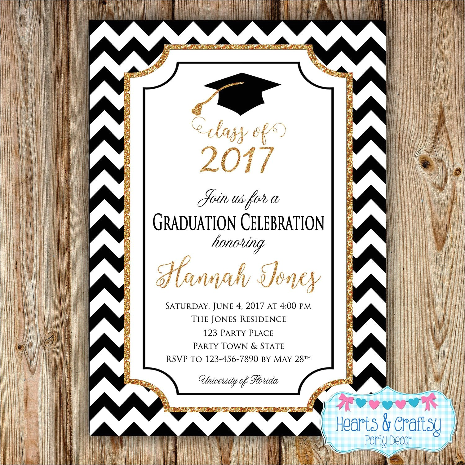 graduation party invitation college