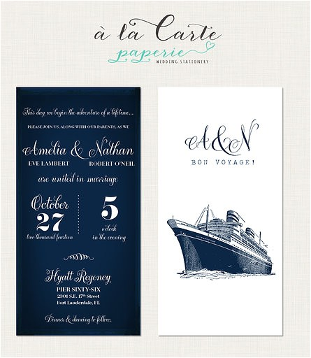 Yacht Wedding Invitation Wording Cruise Ship Yacht Wedding Invitation
