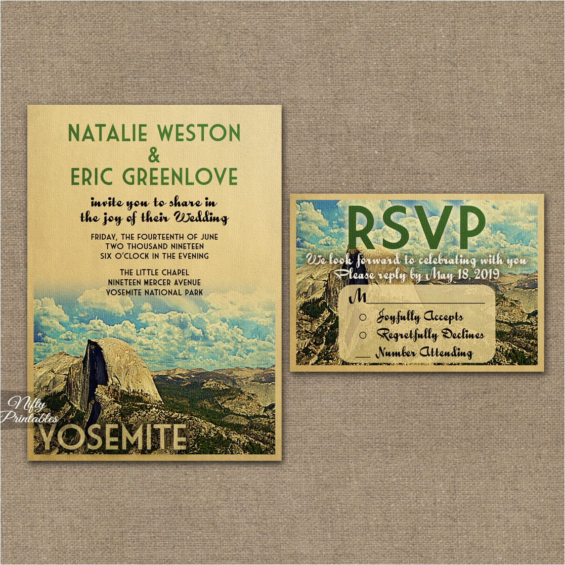 yosemite save date postcards