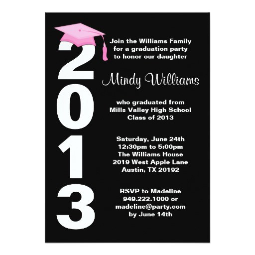 graduation party invitation class of 2013 161245773793690560