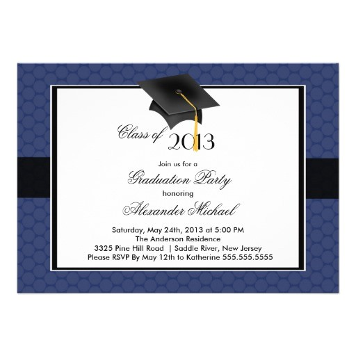 modern graduate cap tassel graduation party invitation 161373171953015864