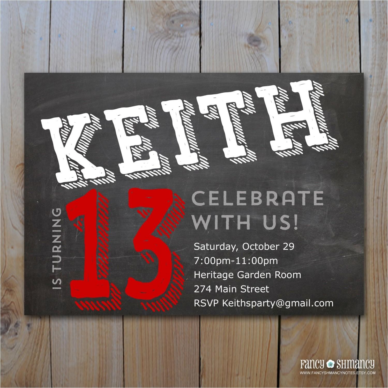 13th Birthday Party Invitations for Boys 14 Unique 13th Birthday Party Invitations for Boys Free