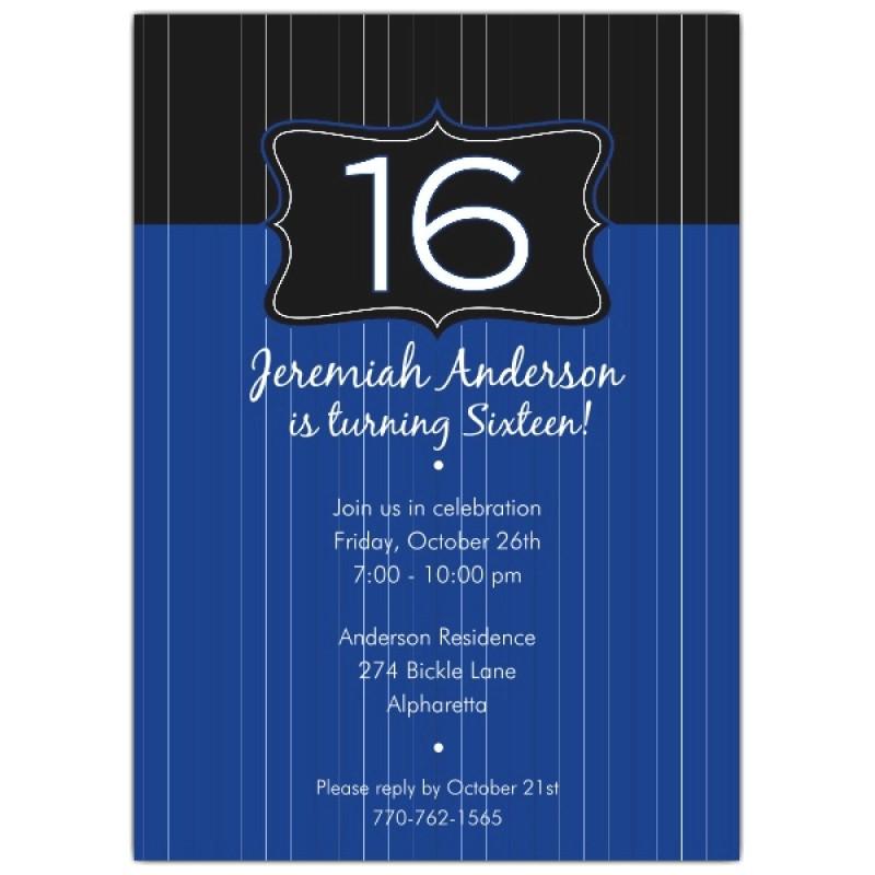 16th Birthday Party Invitations for Boys Boy 16th Birthday Invitation orderecigsjuice Info