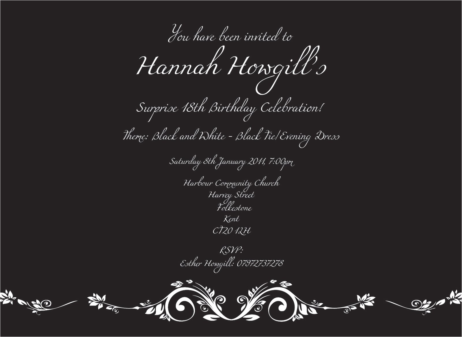 18th birthday invites template