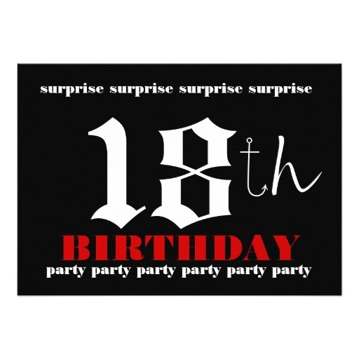 18th surprise birthday party invitation template 161479501748497530