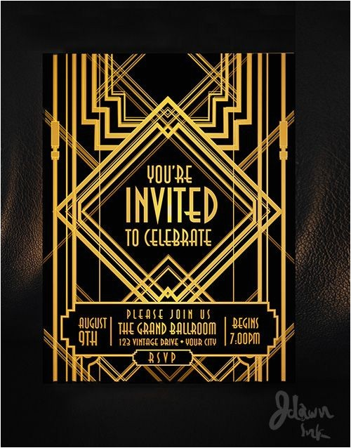 gatsby invitation