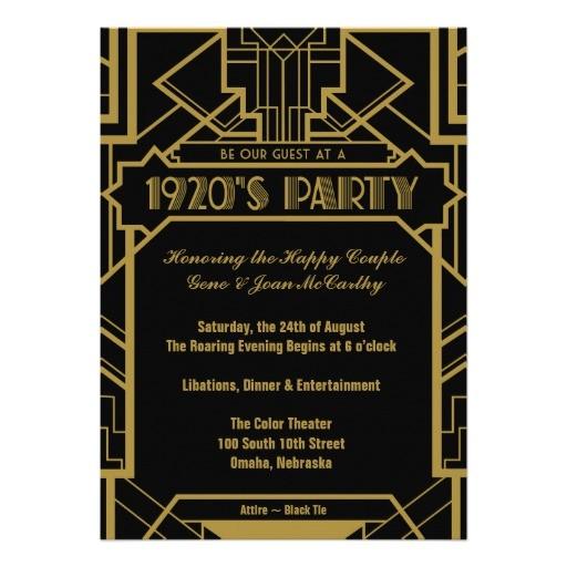 1920s gatsby invite 161904157679103877