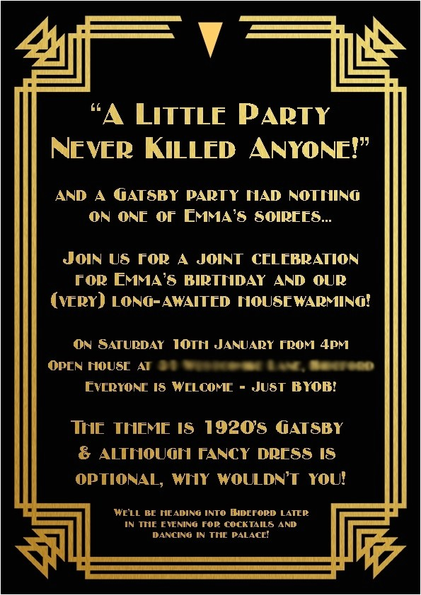 great gatsby invitations template