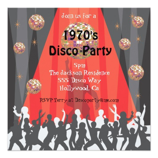 1970s disco party invitation 161983377413358641