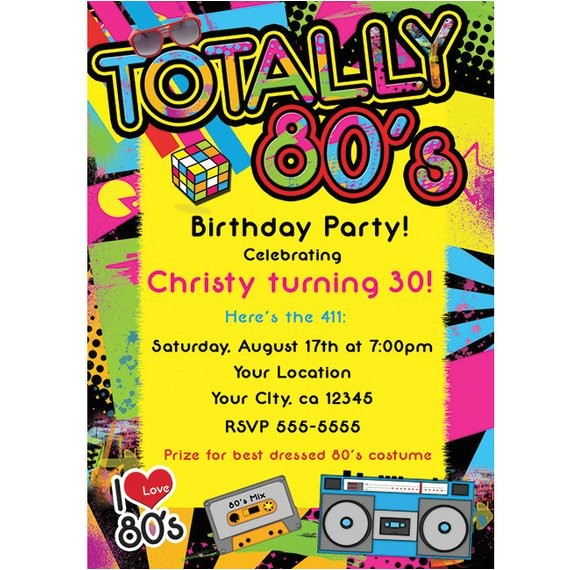 totally 80s 1980s retro birthday party