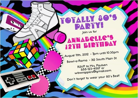 totally 80s 1980s themed birthday party