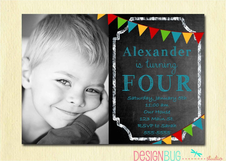 boys chalkboard birthday invitation 1 2