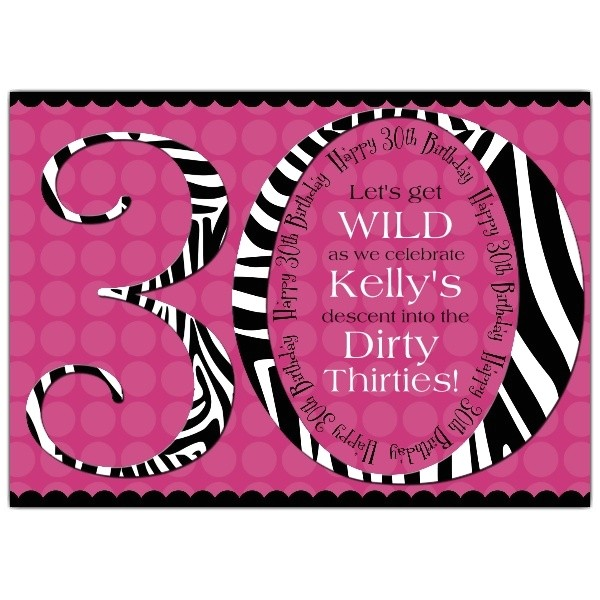 30th birthday invitations for her