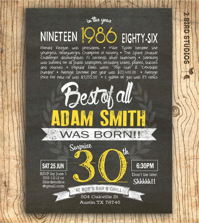 30th birthday invitation surprise 30th
