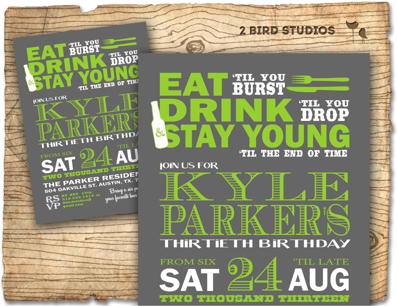 birthday party invitation invite 30th