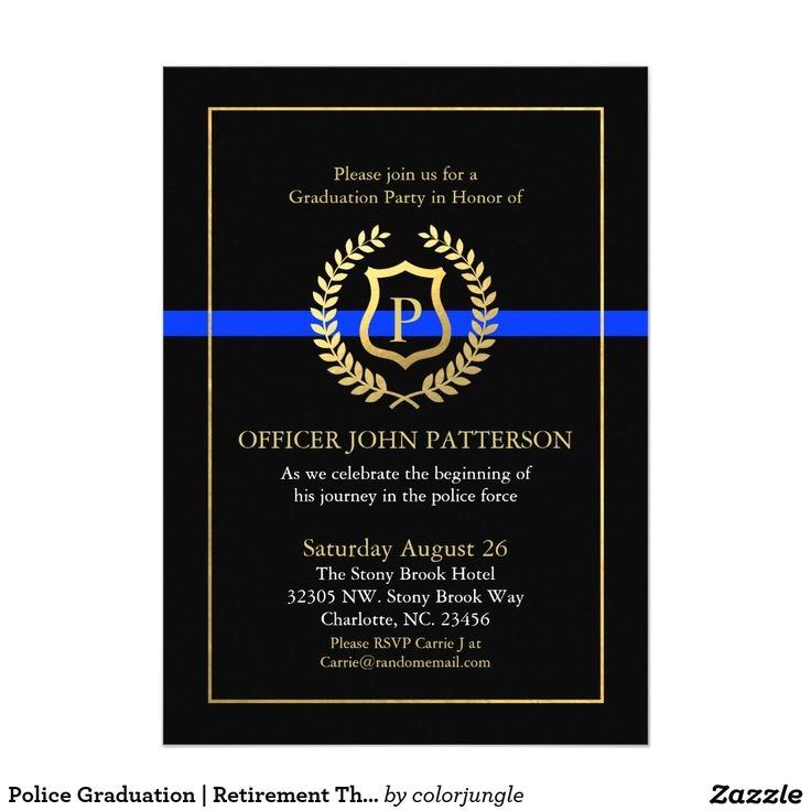 police retirement party