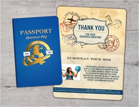 card passport passport invitation travel theme