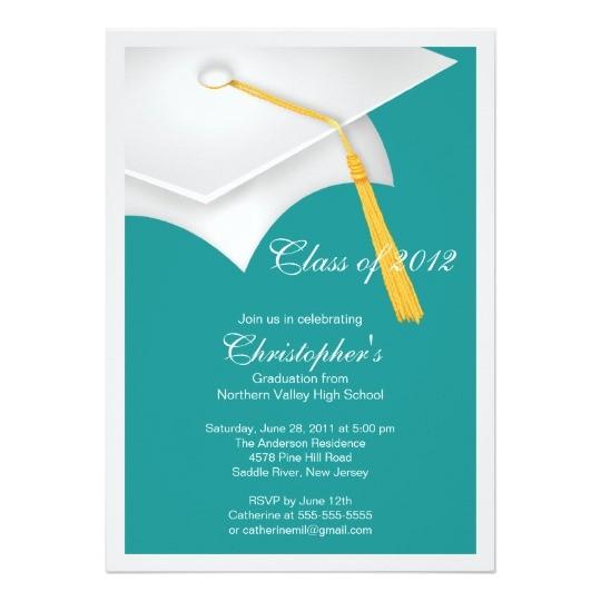 white grad cap graduation party invitation 161840636826991801