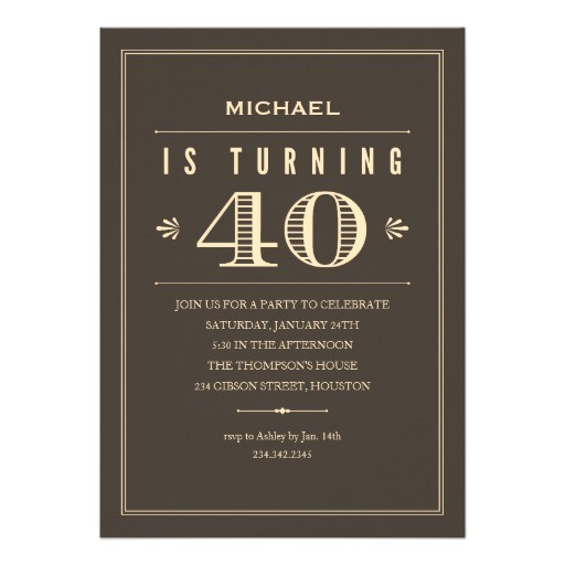 40th birthday quotes for men