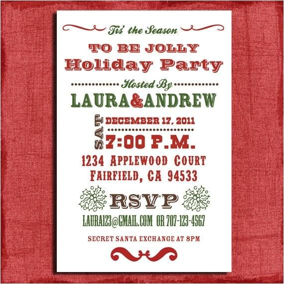 holiday party invitation 4x6 invitation